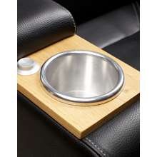 Integrated cupholder aluminium